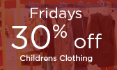 Friday Special - 25% off Childrens Clothing